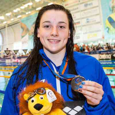 Amelia Clynes - Day 4 - 100m butterfly medal